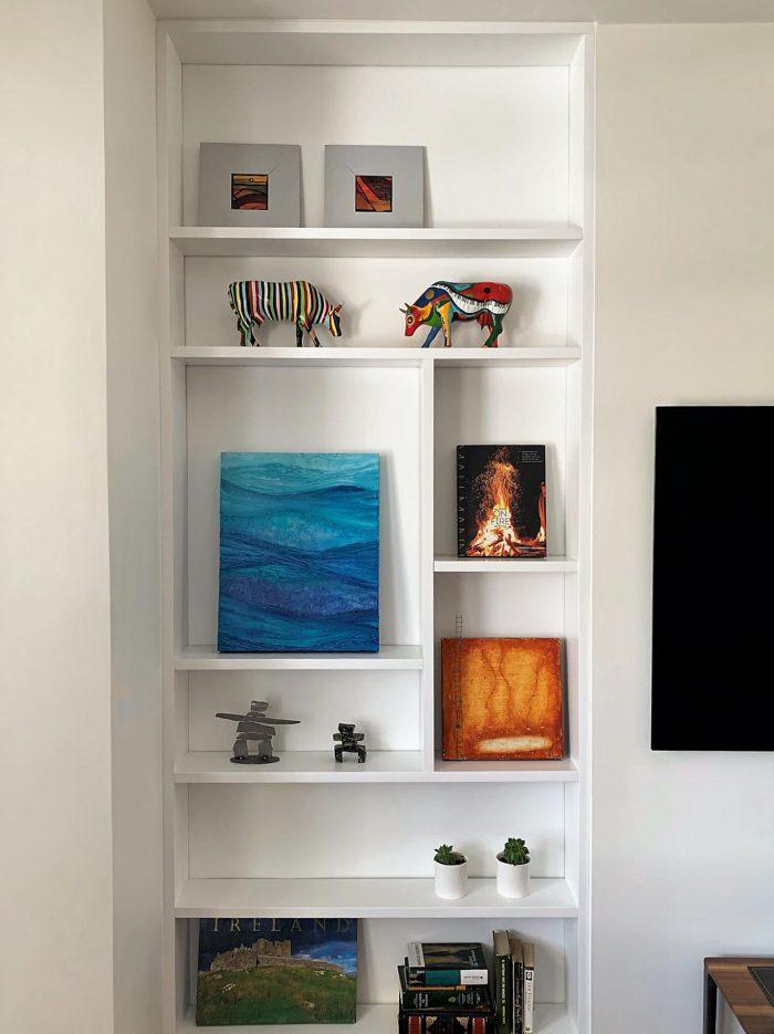 a custom bookcase